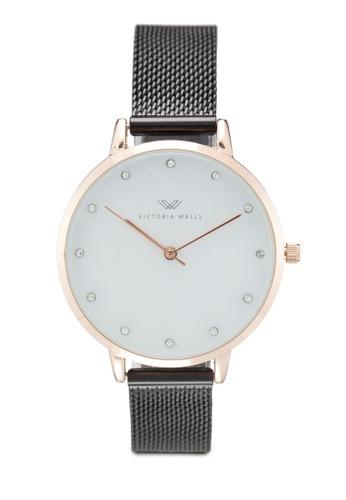 Victoria Walls Watches black Designer Watch-Elegant Milanese Mesh Strap 3EA18ACB641D4DGS_1