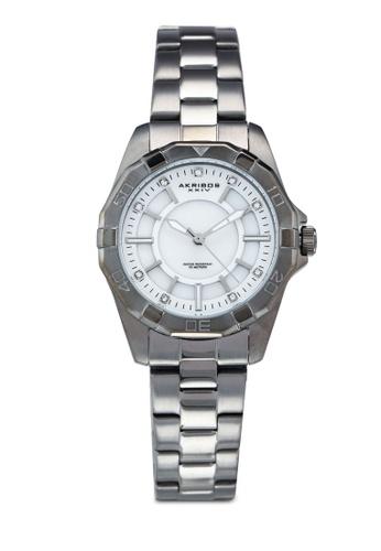 Akribos XXIV silver Crystal Diver Style Watch 1B2BDAC4E259D4GS_1