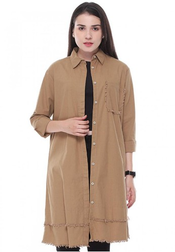 Aromore brown Dien Outer/Tunik/Dress 440D2AA041273BGS_1