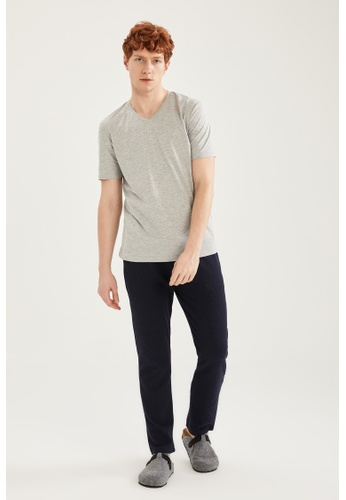 DeFacto grey Regular Fit Top & Bottom Pyjamas Set D381FAADB99475GS_1