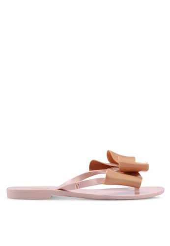 Melissa pink and multi Melissa Harmonic Bow IV Sandals 6599ESH419B978GS_1