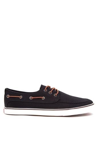 Italianos black Jerry Boat Shoes IT153SH80BSHPH_1