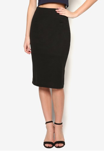 salon esprit基本款及膝鉛筆短裙, 服飾, 裙子