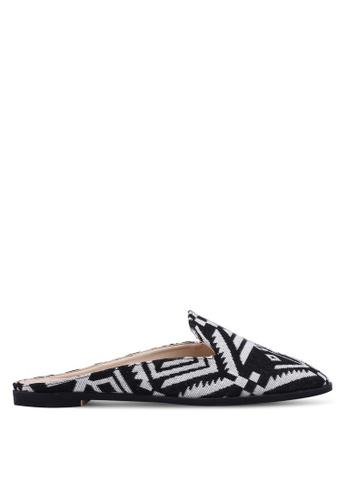 ZALORA black and multi Loafer Mules 10C1CSH81753E7GS_1
