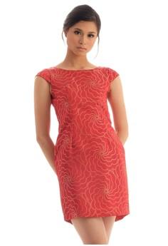 Jacquard Sleeved Dress