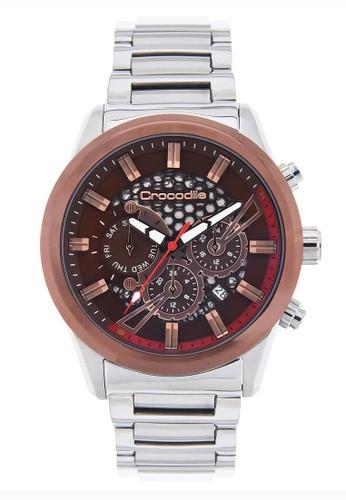 Crocodile Timepiece silver Jam Tangan Pria Analog Sports Chrono Strap Metal CM-019E11F Jam Tangan Pria 0B1B8ACE40AE40GS_1