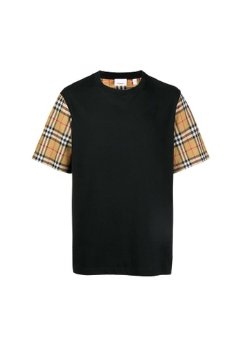 Burberry black Burberry Vintage Check T-Shirt in Black 2E53FAAFAC0A52GS_1