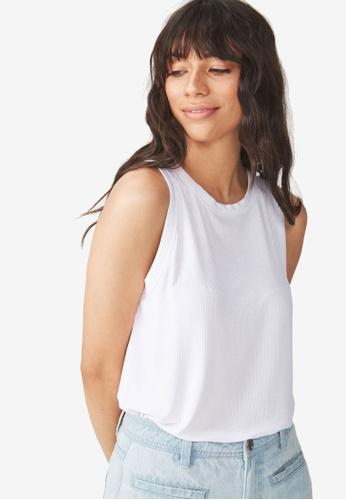 Cotton On white The Girlfriend Tank Top 21E06AA7084640GS_1