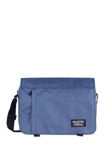 Martin Versa blue Tas Selempang Pria Laptop Macbook Kanvas Men Slingbag Daily Messenger SL4 - Biru Dogker 04436AC8353AB0GS_1