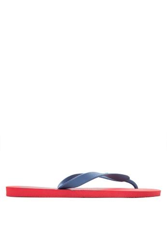 Dupe red Tribal Flip Flops DU626SH32UWDPH_1