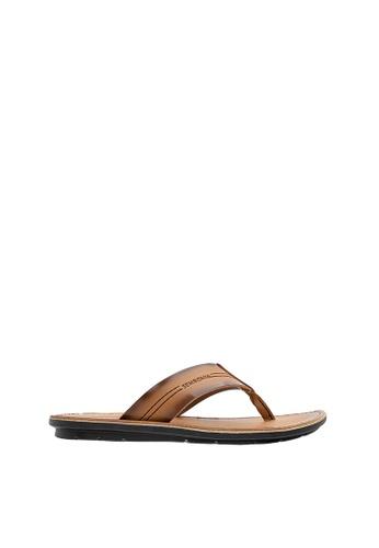 SEMBONIA brown SEMBONIA Men Synthetic Leather Sandal (Brown) SE598SH0SZ8MMY_1