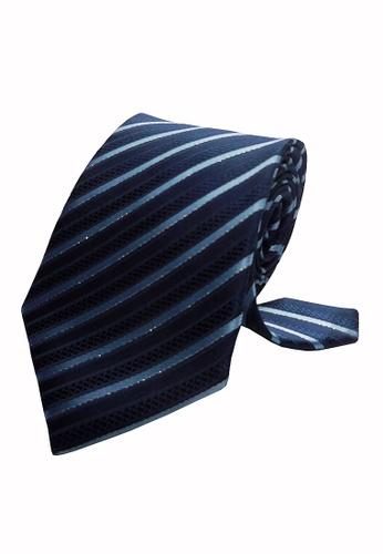 Well Suited blue Modern Stripe Necktie AE921AC10866B8GS_1