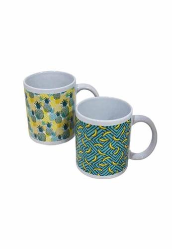 Slique green Premium Ceramic 2 Pcs Mug Set 300 ml 33A59HLF75C606GS_1