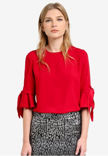 Dorothy Perkins red Red Tie Detail Tee DO816AA0S2IMMY_1