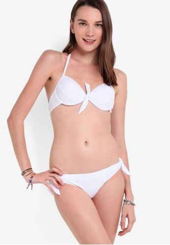 PINK N' PROPER white Basic Push Up Bikini Set 1A4FCUSB2C16EDGS_1