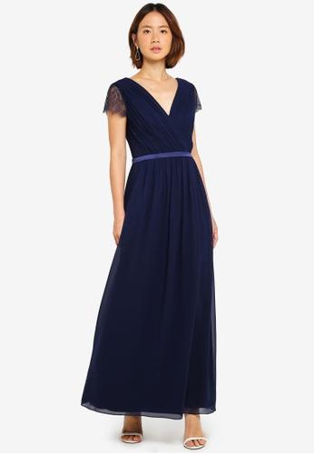 Dorothy Perkins navy Showcase Navy Athena Maxi Dress BC73EAA376A61AGS_1