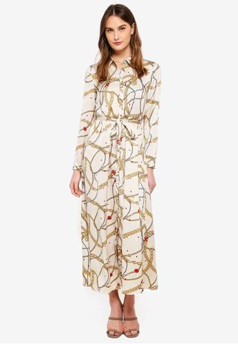 Vero Moda white Chain L/S Dress DA762AA90C7B25GS_1