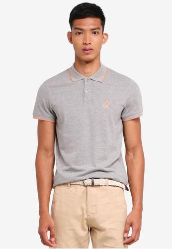 ESPRIT grey Short Sleeve Polo Shirt 1DBA6AA3F19EF8GS_1