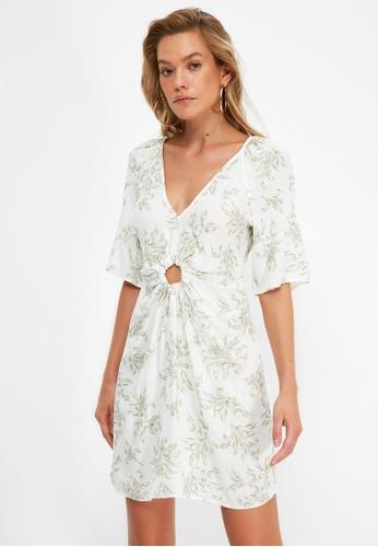 Trendyol white Patterned Beach Dress BEB29AA9F5A451GS_1