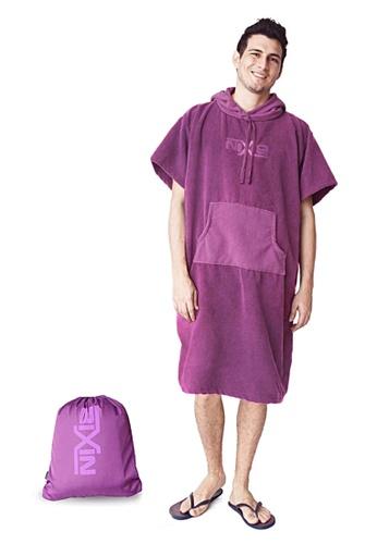NIXIE purple Plain Poncho Towel 746C2USAD4F373GS_1