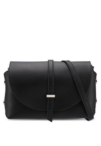 VINCCI black Solid Sling Bag 1246EAC9EB9BA7GS_1