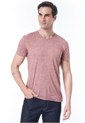 Sisley grey Striped T-shirt D336FAAFD8BB5AGS_1