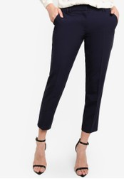 Dorothy Perkins navy Navy Double Loop Ankle Grazer Trousers DO816AA78TXLMY_1