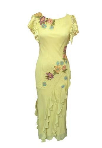 1ffb73dabca71f Buy ANNE F Glamorous Chiffon with Lace Beaded Evening Gown | ZALORA HK