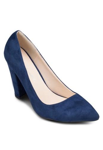 仿esprit outlet 家樂福麂皮尖頭高跟鞋, 女鞋, 厚底高跟鞋