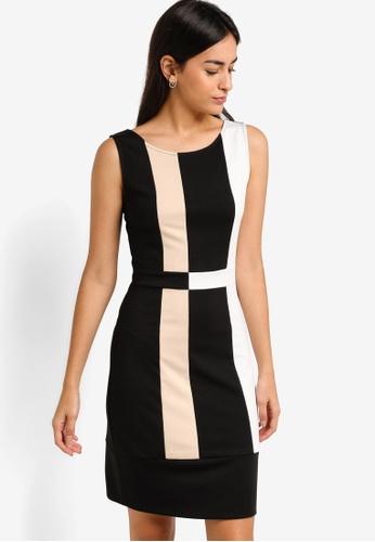 ZALORA multi Colour Block Sheath Dress 192EEAACC89091GS_1