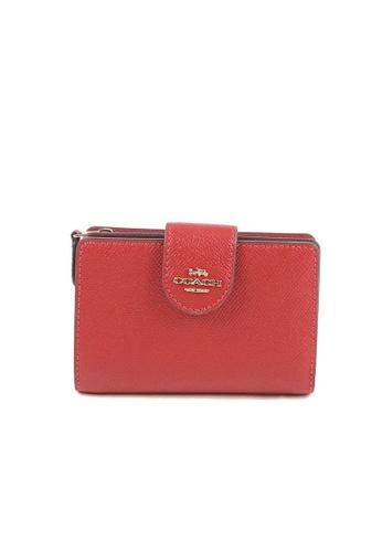 Coach red Coach Medium Corner 6390 Zip Wallet In 1941 Red 00085AC73C1160GS_1