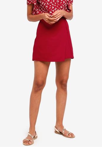 ZALORA BASICS red Basic Scuba Mini Skirt E0810AA9DFAF39GS_1