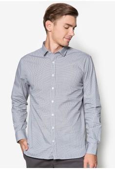 Modern Slim Houndstooth Shirt
