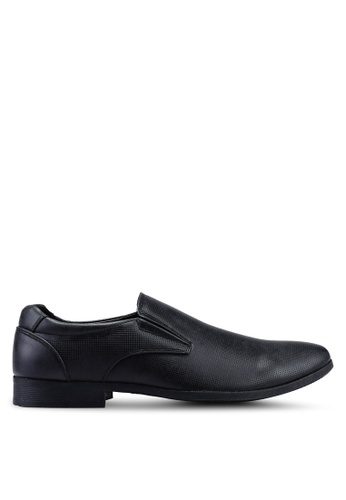 Bata black Faux Leather Dress Shoes DD67ESH0791BA9GS_1