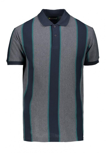 BENCH black Striped Polo Shirt 8597FAA9E4CD30GS_1