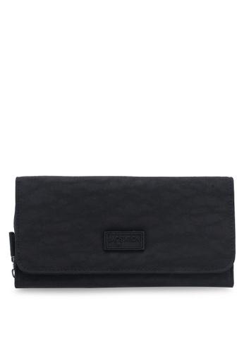 Bagstationz black Crinkled Nylon Bi-Fold Wallet 13B96AC34EE17AGS_1
