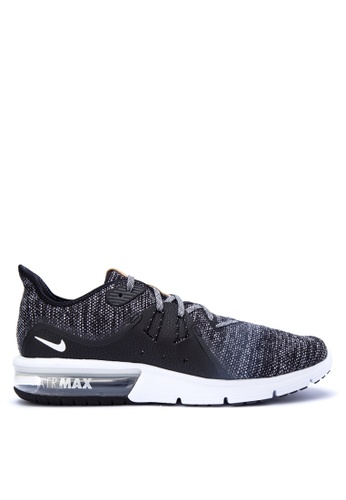 Nike black and grey Men's Nike Air Max Sequent 3 Running Shoes  NI126SH0KPW9PH_1