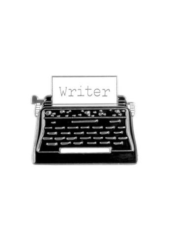 Kings Collection black Retro Typewriter Enamel Pins (KCPN1130) B308AAC03FCA64GS_1
