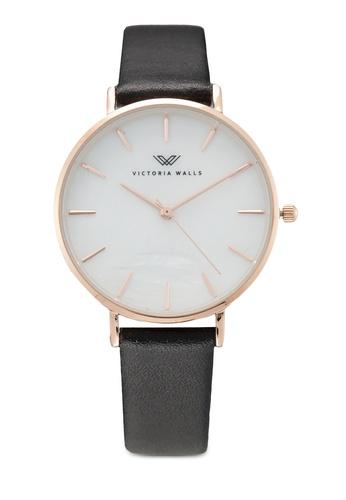 Victoria Walls Watches black Designer Watch-Elegant Leather Strap 82372AC9DB0AFDGS_1