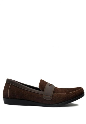 D-Island brown D-Island Shoes Slip On Cowhide Comfort Genuine Leather Brown DI594SH01GKGID_1