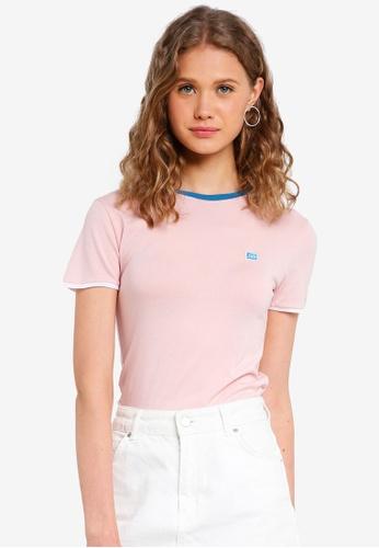 Jack Wills pink Trinkey Ringer T-Shirt FB2FCAACF40D46GS_1