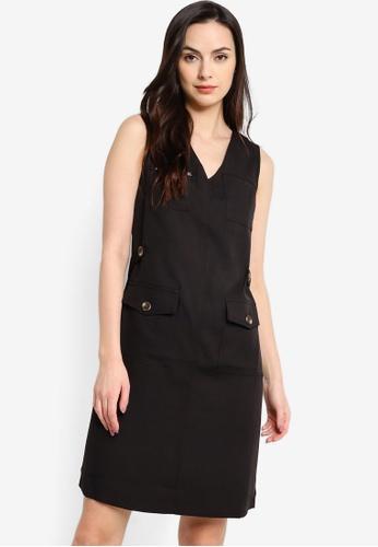 ZALORA WORK black Pocket Detail Dress 6DAD4AAEBE29F9GS_1