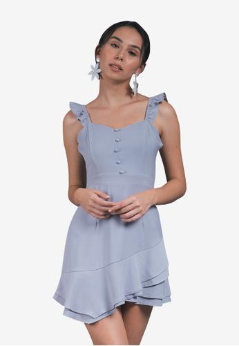 Caoros grey Sweetheart Mini Dress 2E7AFAA7F33A53GS_1