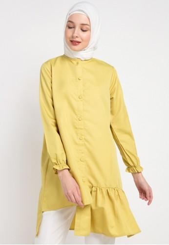 Radwah yellow Aline Top A9685AAF9EB40CGS_1