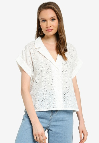 Mink Pink white Giovanna Shirt C2AEBAAD728B40GS_1