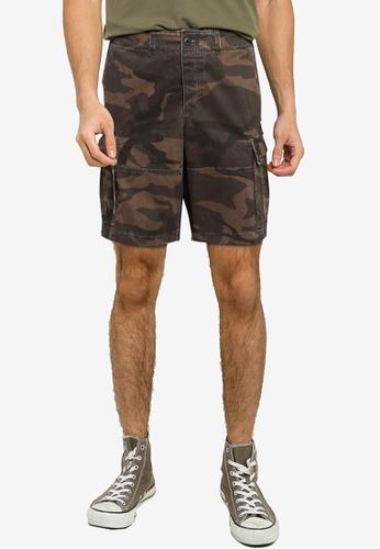 Abercrombie & Fitch green Cargo Shorts 48231AAA241BCEGS_1