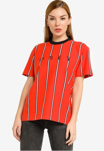 OBEY red Shanks Jersey Tee 6EE43AA2E78630GS_1