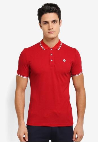 JAXON red Tipping Logo Polo Shirt 744A2AAA486496GS_1