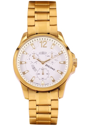 PICONO Watches gold Royal Eunice Multi Dial Water Resistant Analog Quartz Watch PI771AC2WD9CHK_1