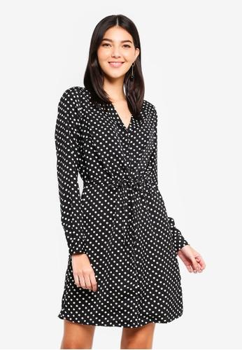 Pieces black Erika Long Sleeve Dress 87763AA40A57CFGS_1